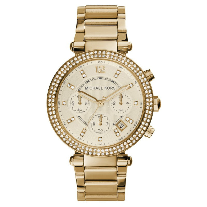 Michael Kors Parker Chronograph Gold Ladies Watch - Stevens Jewellers Letterkenny Donegal