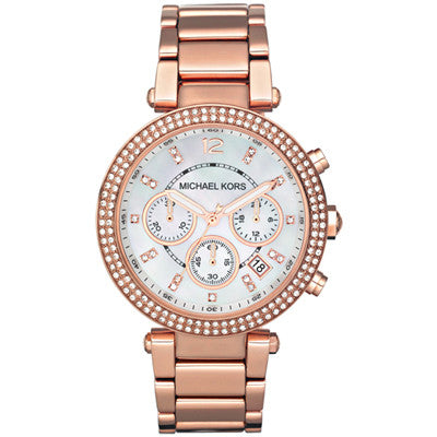 Michael Kors Parker Chronograph Rose Gold Ladies Watch - Stevens Jewellers Letterkenny Donegal