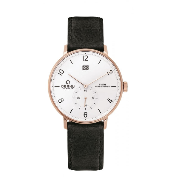 Obaku Rislen Coal Men's Wristwatch