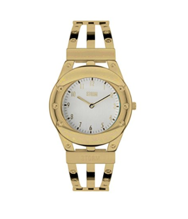 Storm Sephone Gold Ladies Watch with Silver Dial and Stainless Steel Bracelet - Stevens Jewellers Letterkenny Donegal