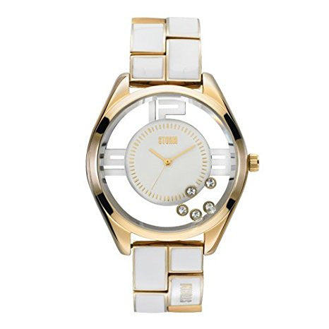 Storm Ladies Pizaz Gold White Watch