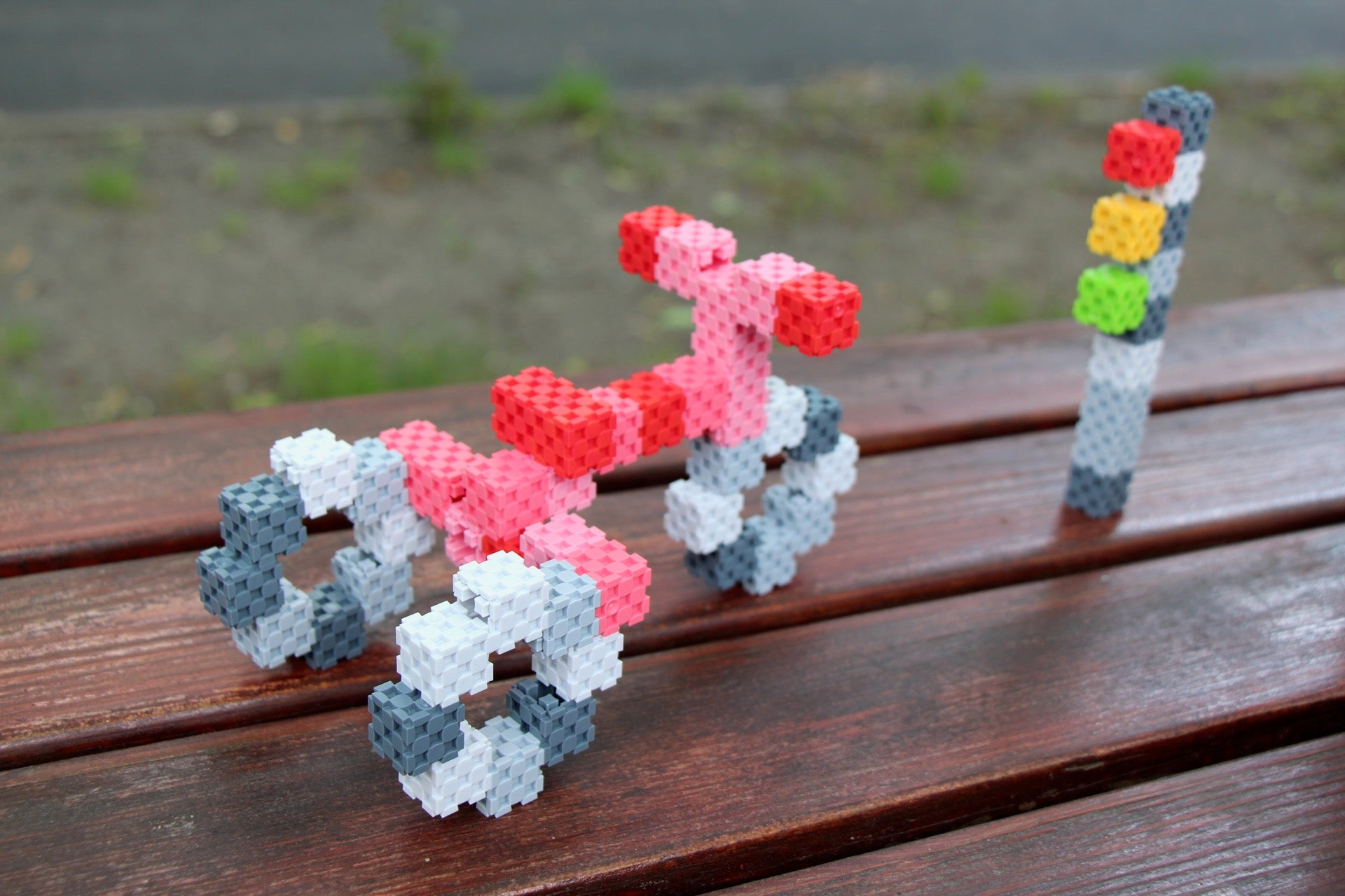 tricycle made with Lini cubes