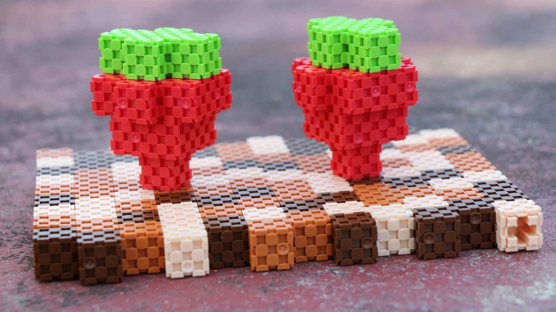 strawberry field made with Lini cubes