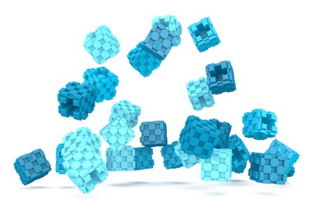 Lini cube Shades of Blue drop image