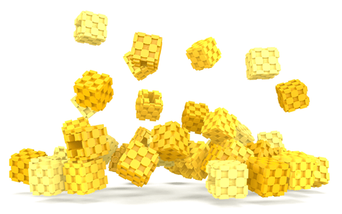Lini cube Shades of Yellow drop image
