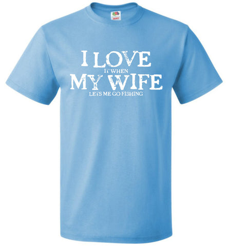 I Love My Wife Fishing FOL Classic Unisex T-Shirt