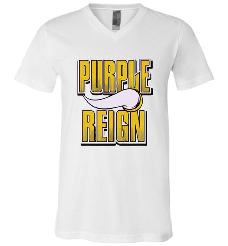 Purple Reign FFCA Canvas Unisex V-Neck T-Shirt