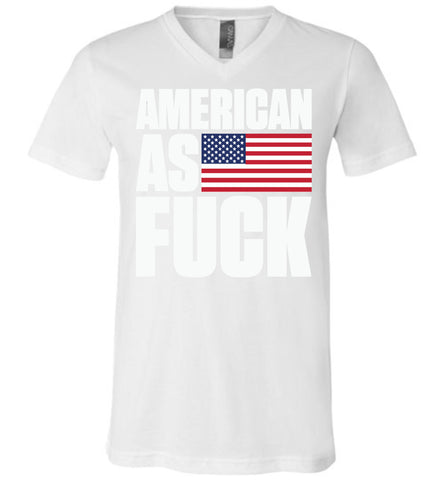 American As Fuck Canvas Unisex V-Neck T-Shirt