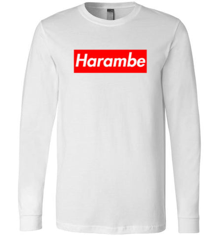 Harambe Supreme Canvas Long Sleeve T-Shirt