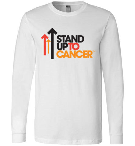 Stand Up To Cancer Canvas Long Sleeve T-Shirt - Zacaca Shop USA - 1