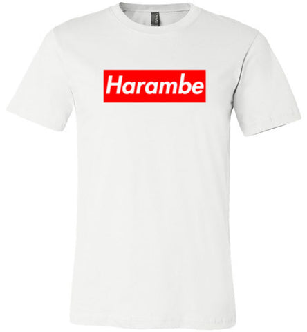 Harambe Supreme Canvas Unisex T-Shirt - Made in USA