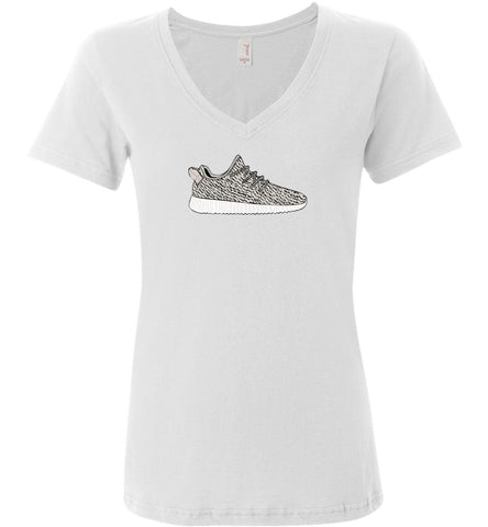 Yeezy Boost 350 Anvil Ladies Featherweight V-Neck Shirt