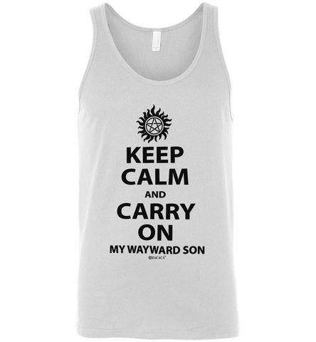 Keep Calm and Carry On My Wayward Son Canvas Unisex Tank Shirt