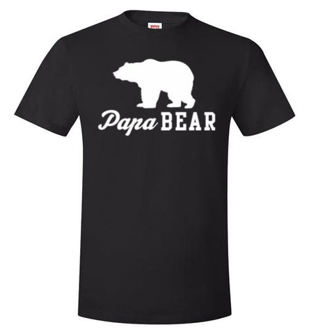 Papa Bear Hanes Nano-T T-Shirt - Zacaca Shop USA - 1