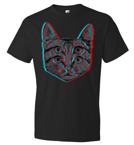 3d Cat Anvil Fashion T-Shirt