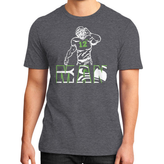 12th man District T-Shirt (on man) Heather charcoal Zacaca Shop USA
