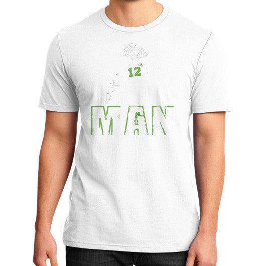 12th man District T-Shirt (on man) White Zacaca Shop USA