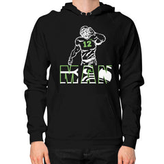 12th man Hoodie (on man)