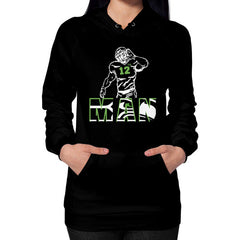 12th man Hoodie (on woman)