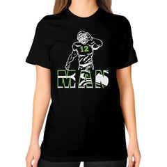 12th man Unisex T-Shirt (on woman)