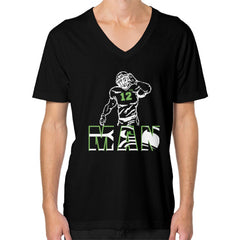 12th man V-Neck (on man)