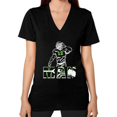 12th man V-Neck (on woman)
