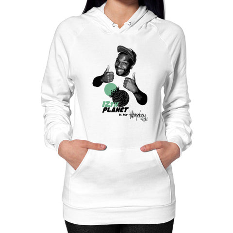 12TH PLANET IS MY Hoodie (on woman) White Zacaca Shop USA