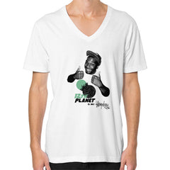 12TH PLANET IS MY V-Neck (on man)