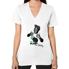 12TH PLANET IS MY V-Neck (on woman)
