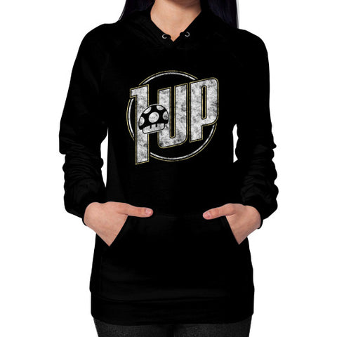 1 UP Hoodie (on woman) Black Zacaca Shop USA