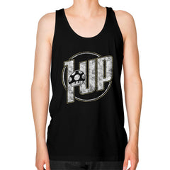 1 UP Unisex Fine Jersey Tank (on man)