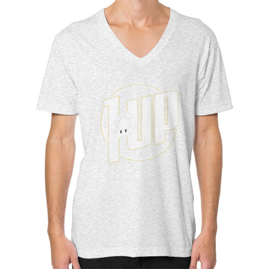 1 UP V-Neck (on man) Ash grey Zacaca Shop USA