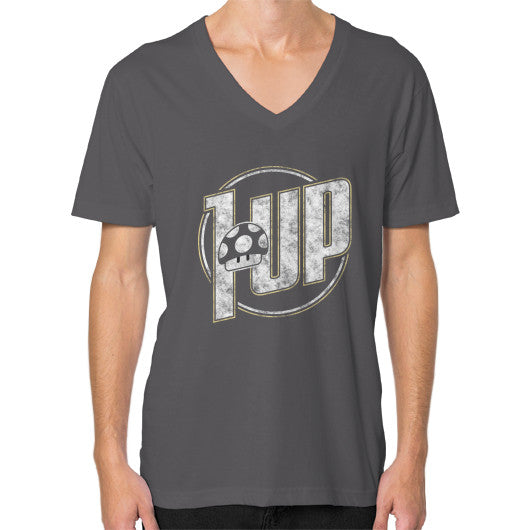 1 UP V-Neck (on man) Asphalt Zacaca Shop USA