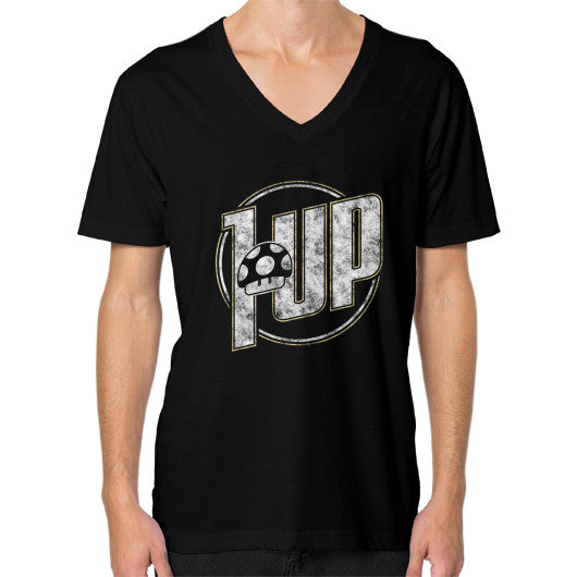 1 UP V-Neck (on man) Black Zacaca Shop USA