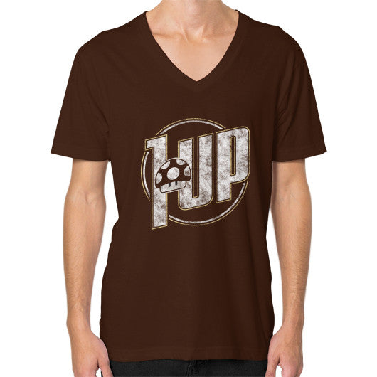 1 UP V-Neck (on man) Brown Zacaca Shop USA