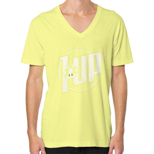1 UP V-Neck (on man) Lemon Zacaca Shop USA
