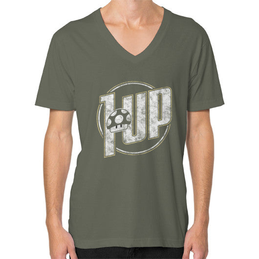1 UP V-Neck (on man) Lieutenant Zacaca Shop USA