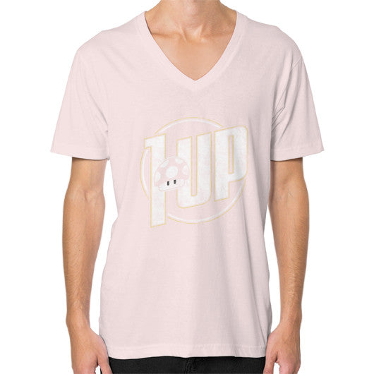 1 UP V-Neck (on man) Light pink Zacaca Shop USA