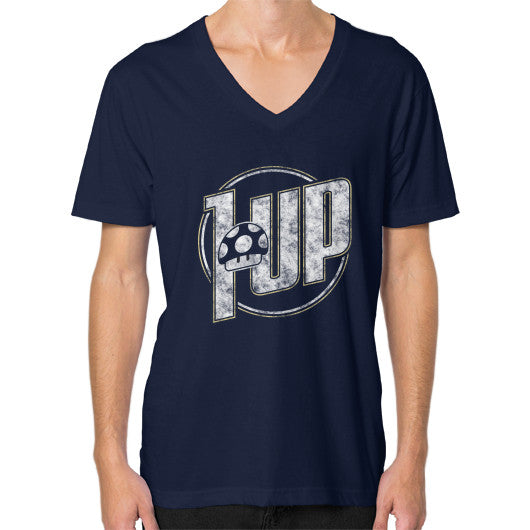 1 UP V-Neck (on man) Navy Zacaca Shop USA