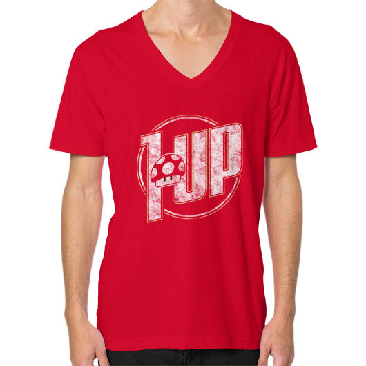 1 UP V-Neck (on man) Red Zacaca Shop USA