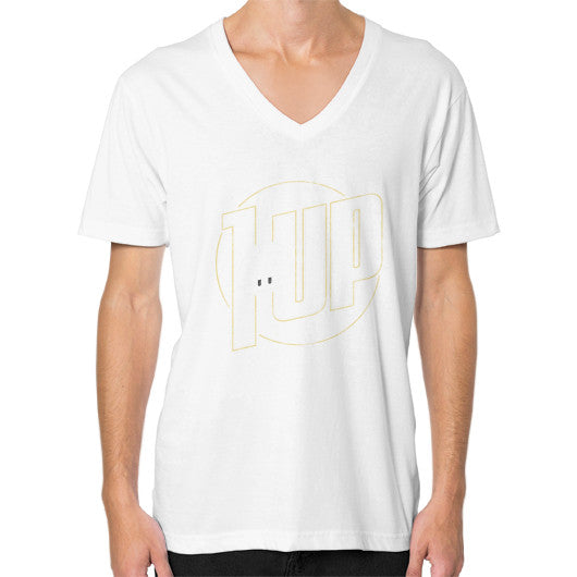 1 UP V-Neck (on man) White Zacaca Shop USA