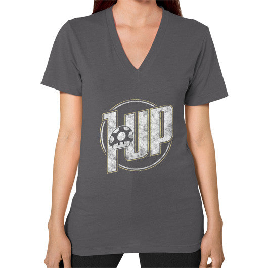 1 UP V-Neck (on woman) Asphalt Zacaca Shop USA