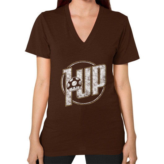 1 UP V-Neck (on woman) Brown Zacaca Shop USA