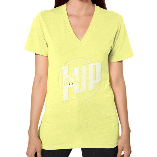 1 UP V-Neck (on woman) Lemon Zacaca Shop USA