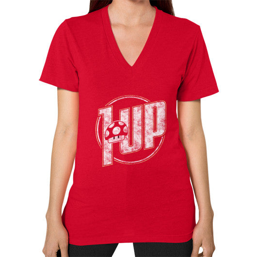 1 UP V-Neck (on woman) Red Zacaca Shop USA