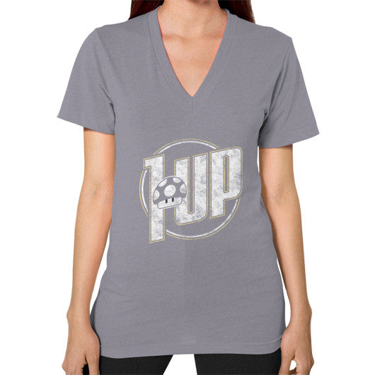 1 UP V-Neck (on woman) Slate Zacaca Shop USA