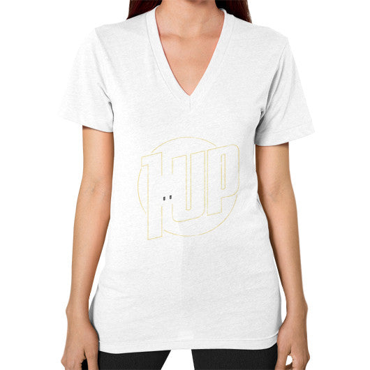 1 UP V-Neck (on woman) White Zacaca Shop USA