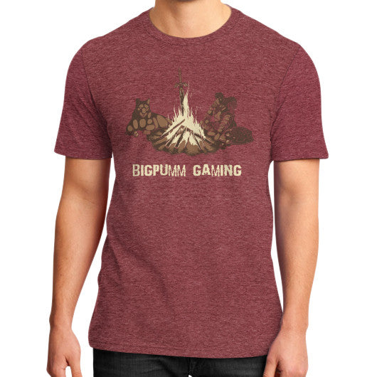 1 Year Anniversary! BIGPUMM GAMING  District T-Shirt (on man) Heather red Zacaca Shop USA