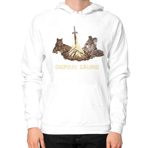 1 Year Anniversary! BIGPUMM GAMING  Hoodie (on man) White Zacaca Shop USA