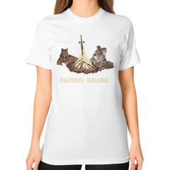 1 Year Anniversary! BIGPUMM GAMING  Unisex T-Shirt (on woman)